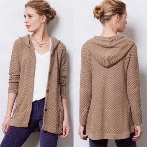 Anthropologie Sparrow Chunky Knit Hooded Cardigan